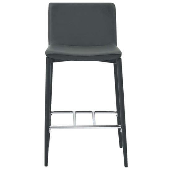 shumee Barski stolčki 2 kosa sivo umetno usnje