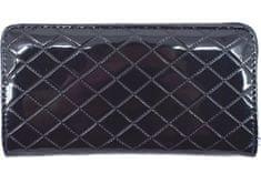 Arteddy Dámská / dívčí lakovaná peněženka pouzdrového typu - tmavě modrá