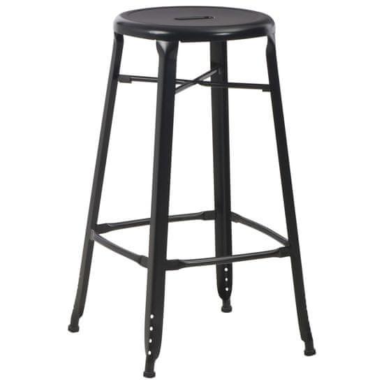 shumee Barové stoličky 6 ks černé ocel