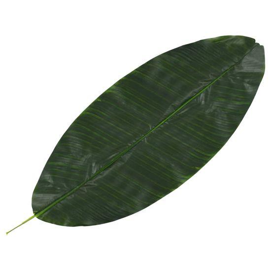 shumee Sztuczne liście bananowca, 5 szt., zielone, 80 cm
