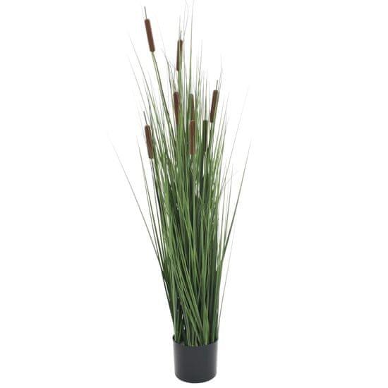 shumee Umelá tráva v kvetináči s pálkou 120 cm