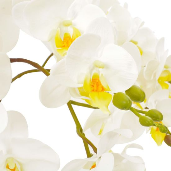 shumee Sztuczny storczyk z doniczką, biały, 60 cm