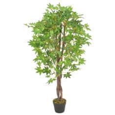 shumee Umetna rastlina javorjevo drevo z loncem zelena 120 cm