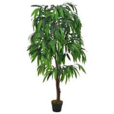 shumee Umetna rastlina mangovec v loncu zelen 140 cm
