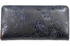Arteddy Dámská / dívčí velká peněženka pouzdrového typu s květovaným vzorem - tmavě modrá