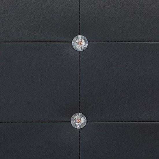 Petromila Rám postele čierny umelá koža 160x200 cm