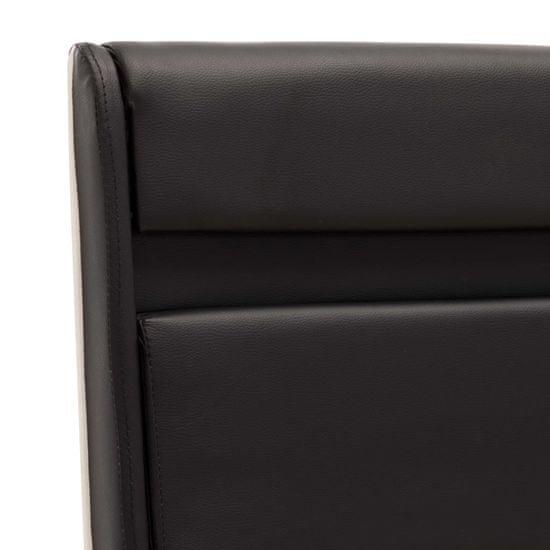 shumee fekete műbőr LED-es ágykeret 180 x 200 cm