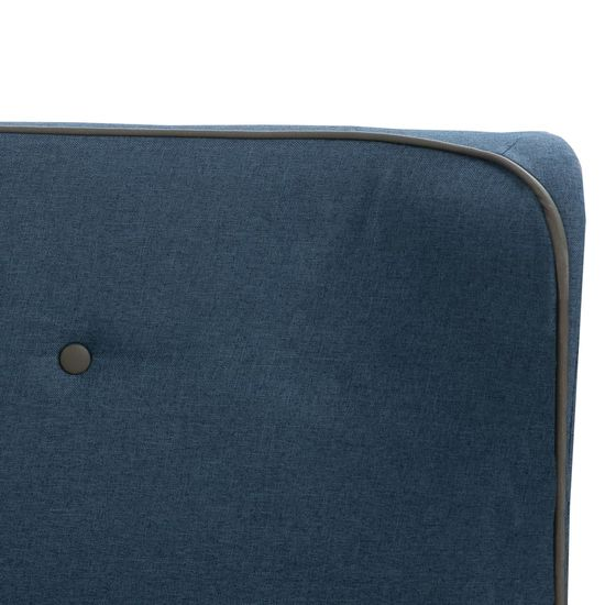 shumee Posteljni okvir modro blago 120x200 cm