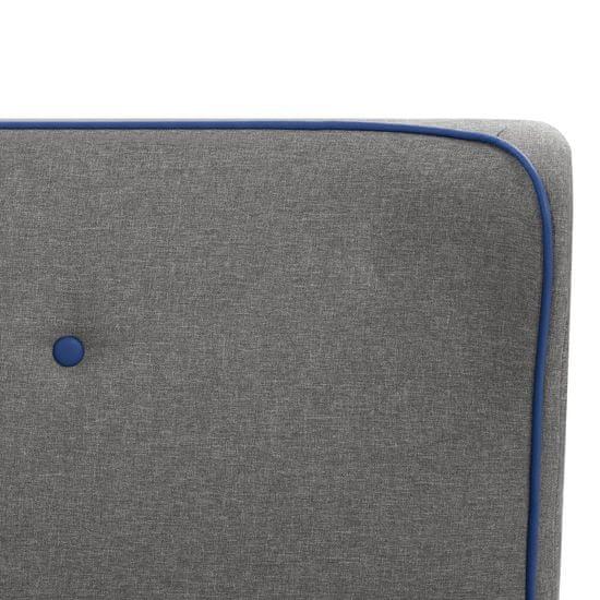 shumee Posteljni okvir svetlo sivo blago 160x200 cm