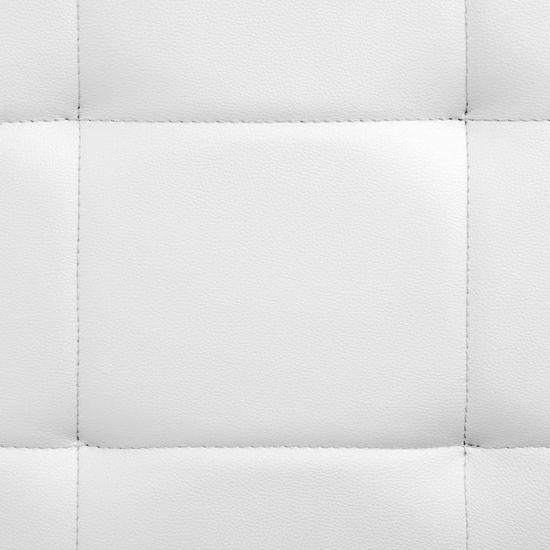 shumee Posteljni okvir belo umetno usnje 200x180 cm