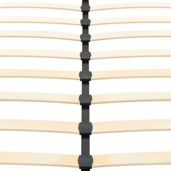 shumee Posteljni okvir iz črnega umetnega usnja 120x200 cm
