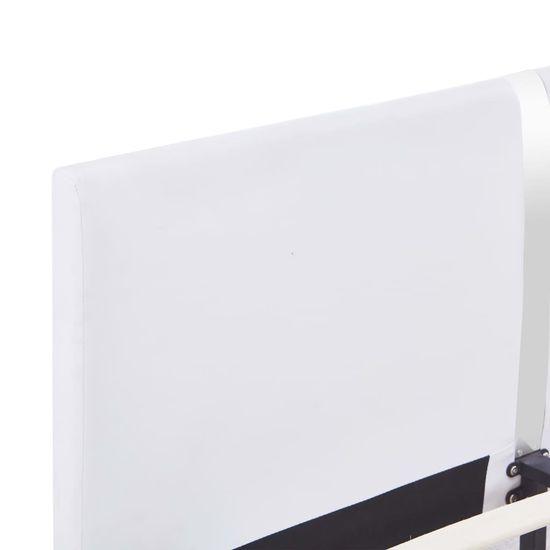 shumee Posteljni okvir belo umetno usnje 180x200 cm