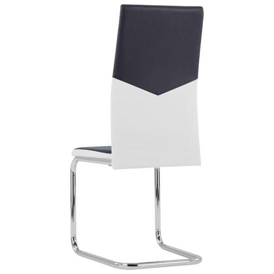shumee Nihajni jedilni stoli 6 kosov črno umetno usnje