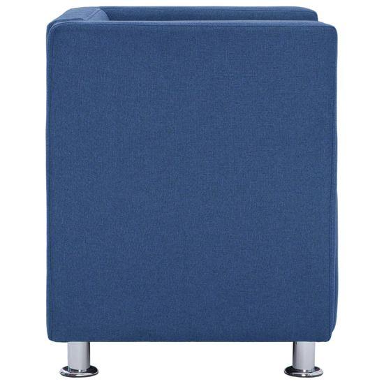 shumee Fotel kubik, niebieski, tkanina