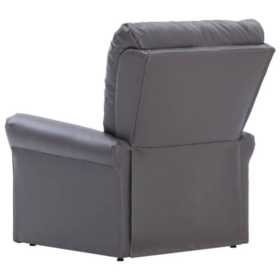 shumee Rozkładany fotel masujący, szary, sztuczna skóra