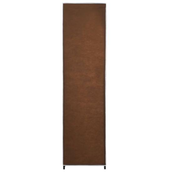 shumee Szafa z 4 przegrodami, brązowa, 175x45x170 cm