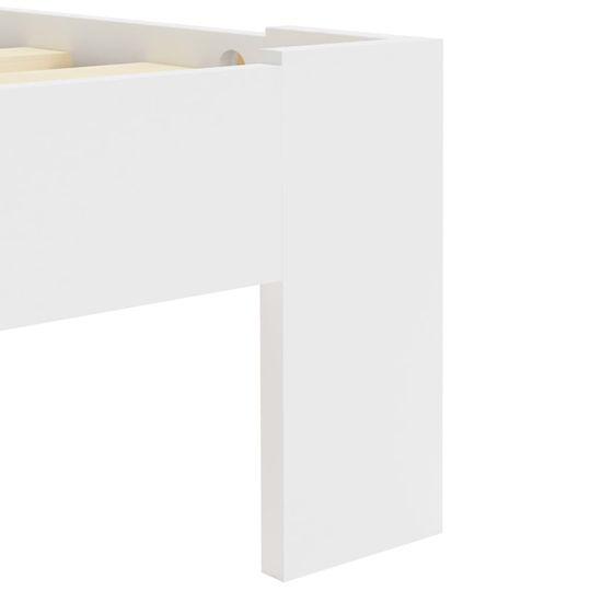 shumee Posteljni okvir bel iz trdne borovine 160x200 cm