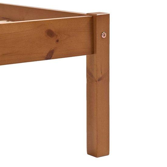 shumee Posteljni okvir s 4 predali medeno rjava borovina 180x200 cm