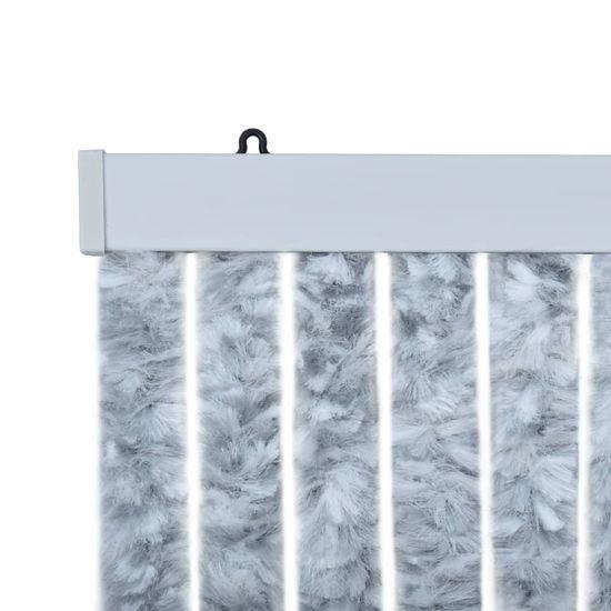 shumee Zasłona na owady, szarość i biel, 90x220 cm, szenil