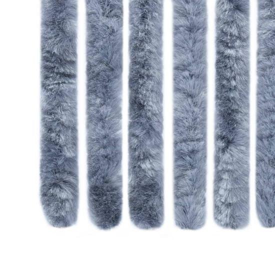shumee Zasłona przeciwko owadom, srebrna, 100x220 cm, szenil