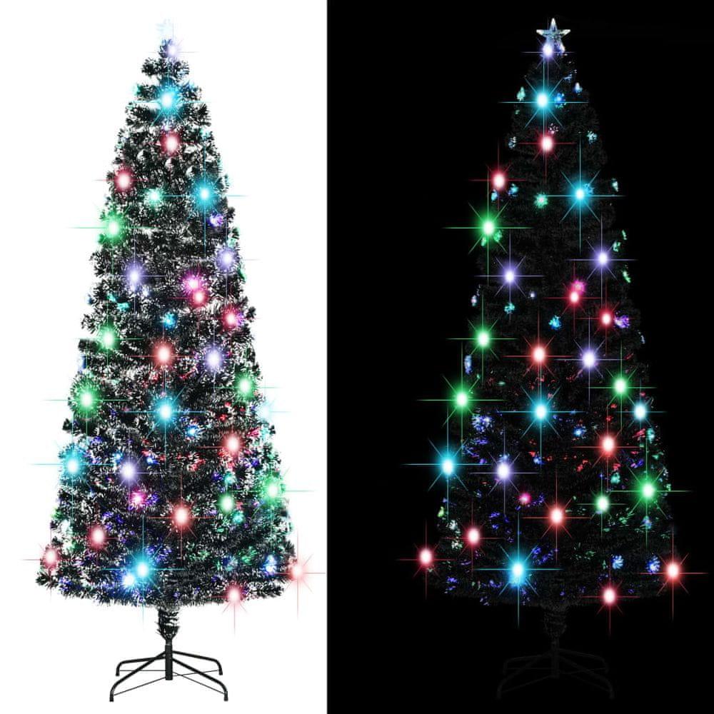 Umělý vánoční stromek se stojanem a LED 240 cm 380 větviček