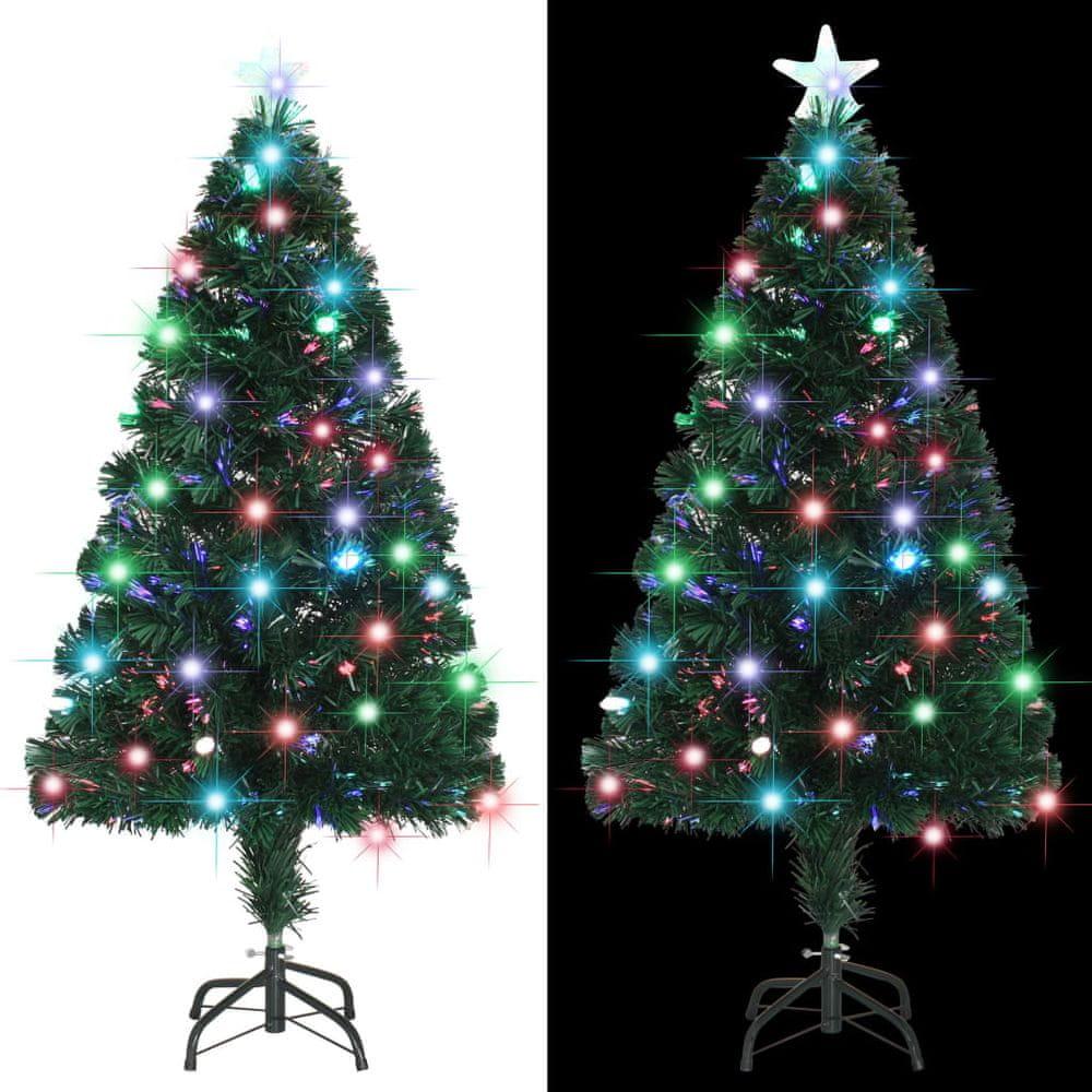 Umělý vánoční stromek se stojanem a LED 120 cm 135 větviček