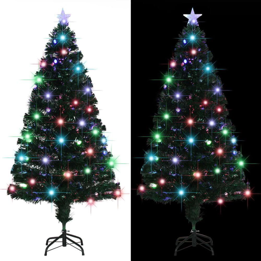 Umělý vánoční stromek se stojanem a LED 150 cm 170 větviček