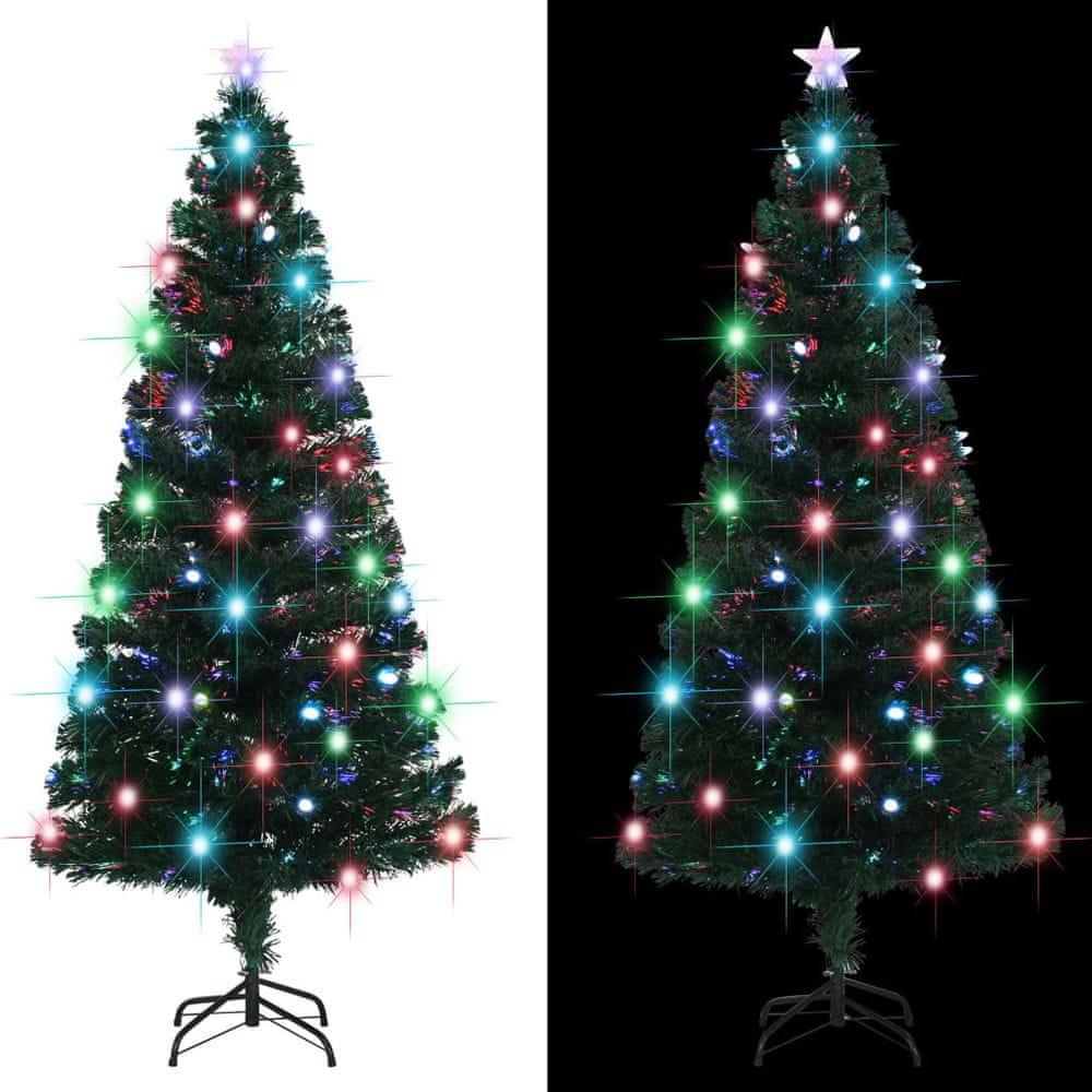 Umělý vánoční stromek se stojanem a LED 180 cm 220 větviček