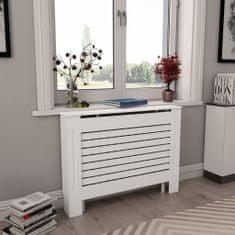 Kryt na radiátor bílý 112 x 19 x 81,5 cm MDF