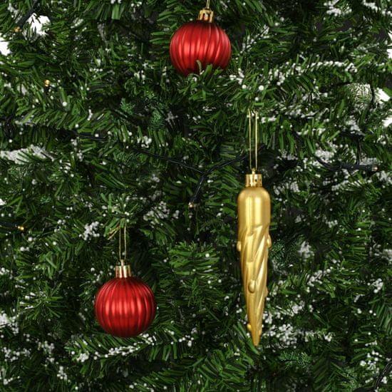 Greatstore Snežiaci vianočný stromček dáždnikovým podstavcom zelený 170 cm