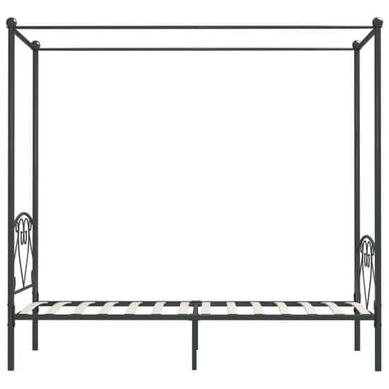 shumee Rama łóżka z baldachimem, szara, metalowa, 90 x 200 cm