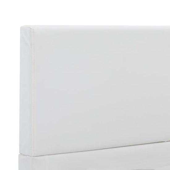 shumee Posteljni okvir belo umetno usnje 120x200 cm