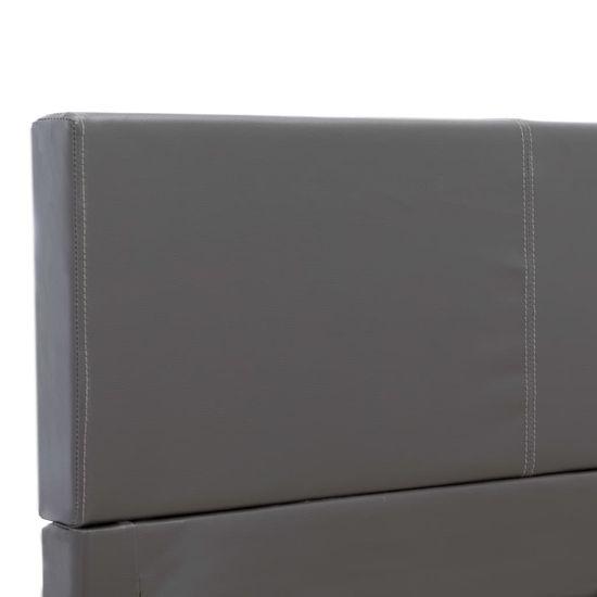 shumee Posteljni okvir sivo umetno usnje 160x200 cm