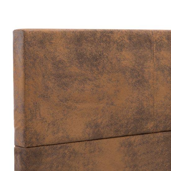 shumee Posteljni okvir rjav iz umetnega semiš usnja 120x200 cm