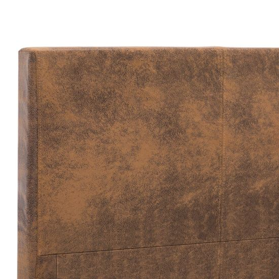 shumee Posteljni okvir rjav iz umetnega semiš usnja 180x200 cm
