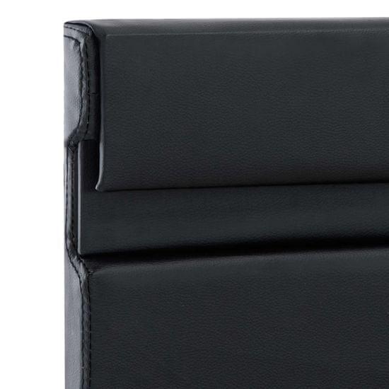 shumee Posteljni okvir LED črno umetno usnje 120x200 cm