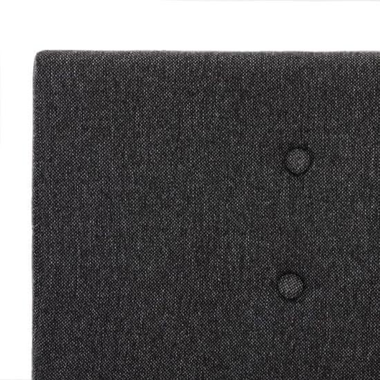 shumee sötétszürke szövetkárpitozású ágykeret 100 x 200 cm