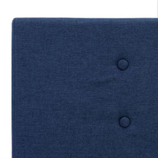 shumee Posteljni okvir modro blago 100x200 cm