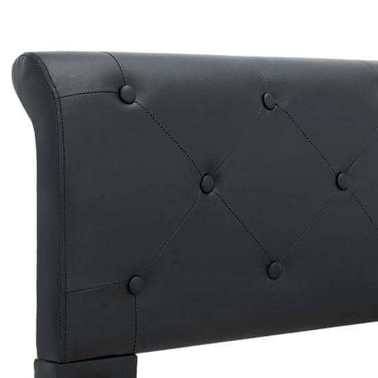 shumee fekete műbőr ágykeret 100 x 200 cm