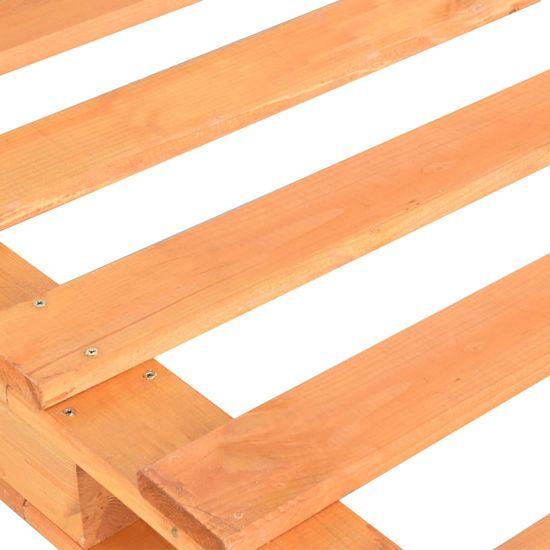 shumee Posteljni okvir iz palet rjava trdna borovina 90x200 cm
