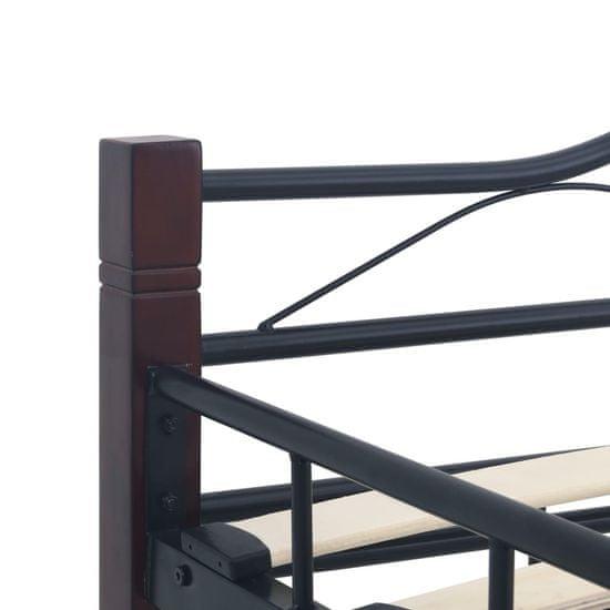 shumee Posteljni okvir črn kovinski 180x200 cm