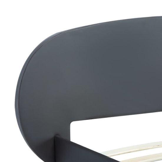 shumee Posteljni okvir sivo umetno usnje 180x200 cm