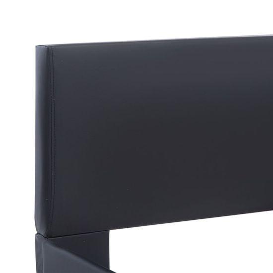 shumee Posteljni okvir črno umetno usnje 140x200 cm