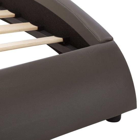 shumee szürke LED-es műbőr ágykeret 100 x 200 cm