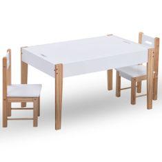 shumee 3-részes fekete és fehér táblás gyerekasztal- és székkészlet
