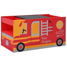 shumee 3-częściowy zestaw mebli dla dzieci, wóz strażacki, drewno