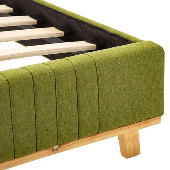 shumee Posteljni okvir zeleno blago 180x200 cm