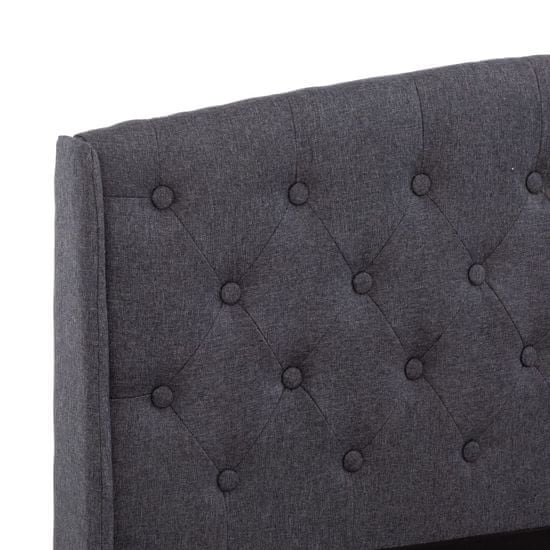 shumee Posteljni okvir temno sivo blago 160 x 200 cm