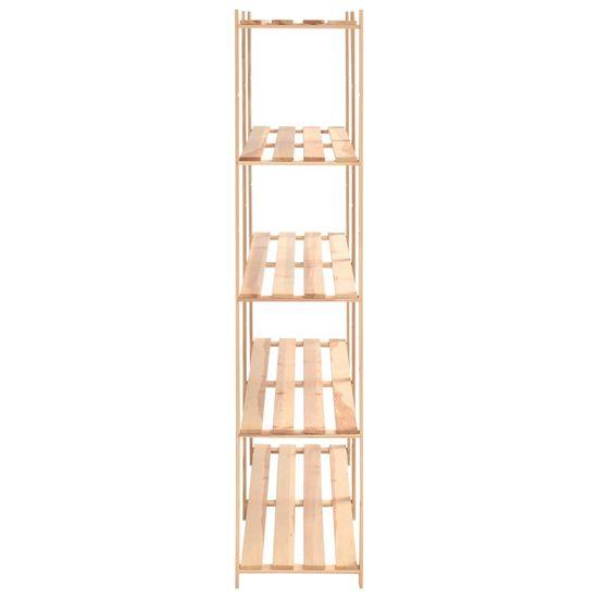 shumee Regały z 5 półkami, 3 szt., 170x38x170 cm, sosna, 500 kg