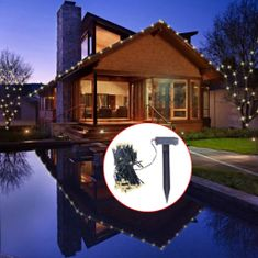 shumee LED Solarne Okrasne lučke za božično dekoracijo z belo svetlobo